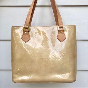 Louis Vuitton Tan Vernis Houston Tote Handbag NE